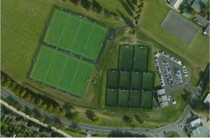2 pitches aerial photo