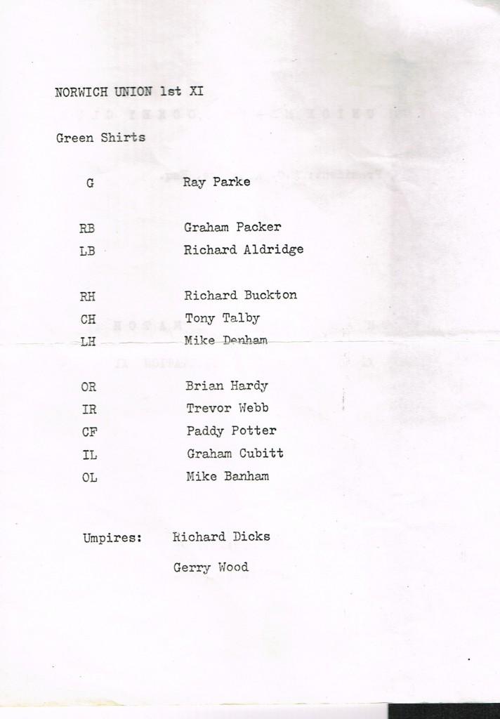 NUMHC 50th Anniversary Matchday Prog NU 1st XI - 18Apr1970