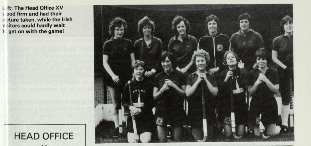 Norwich Union magazine Winter 1978 p5 HO hockey team